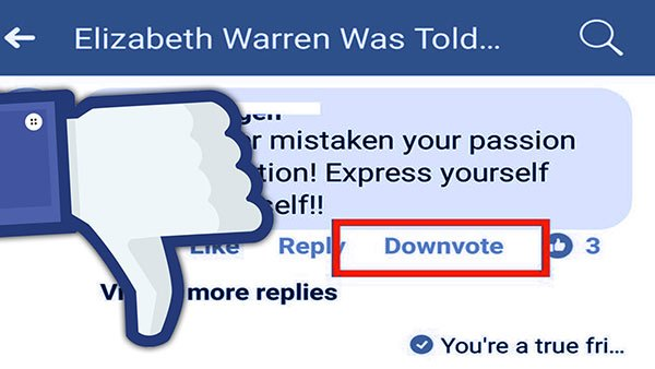 facebook downvote 1