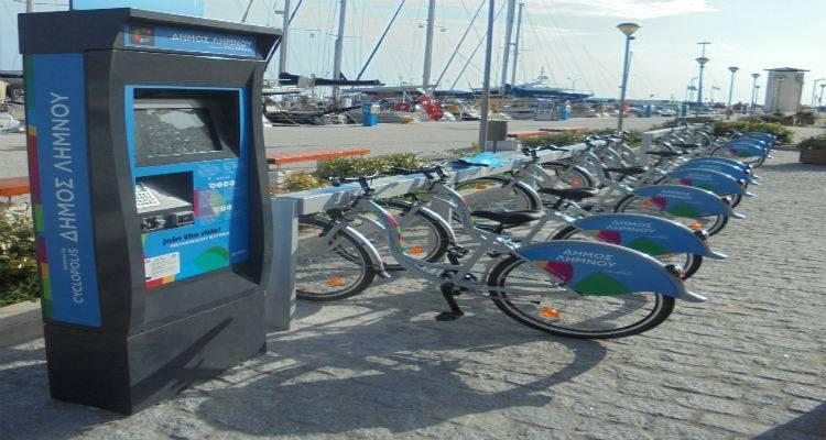 Μια πολύ καλή σεζόν για τα κοινόχρηστα ποδήλατα του Δήμου Λήμνου