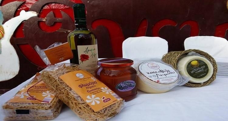 Έκθεση τοπικών προϊόντων στο Μούδρο